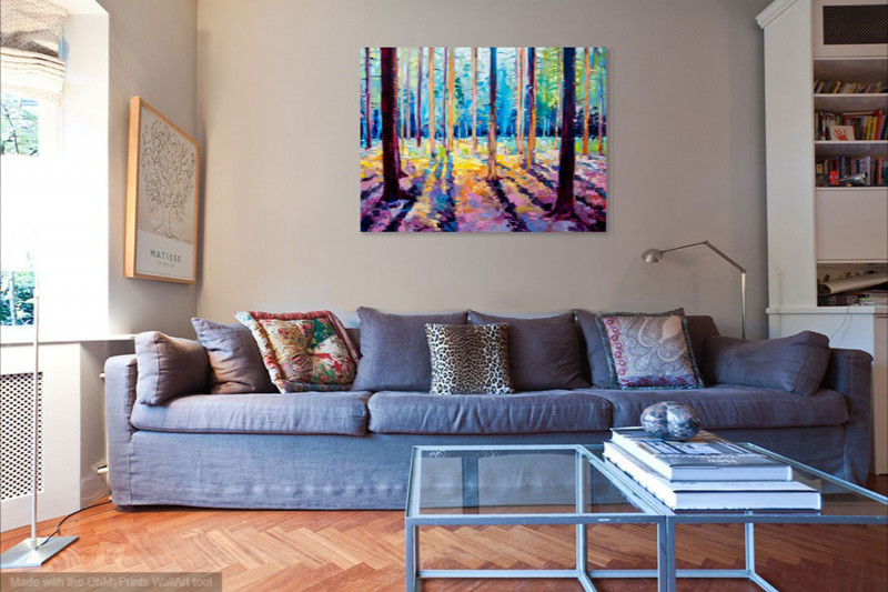 impressionism landscape for traditional interior