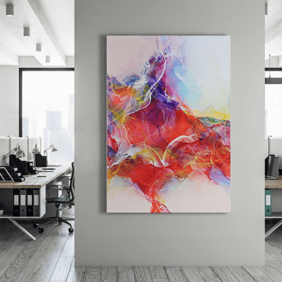Rent contemporary abstract acrylic painting on canvas