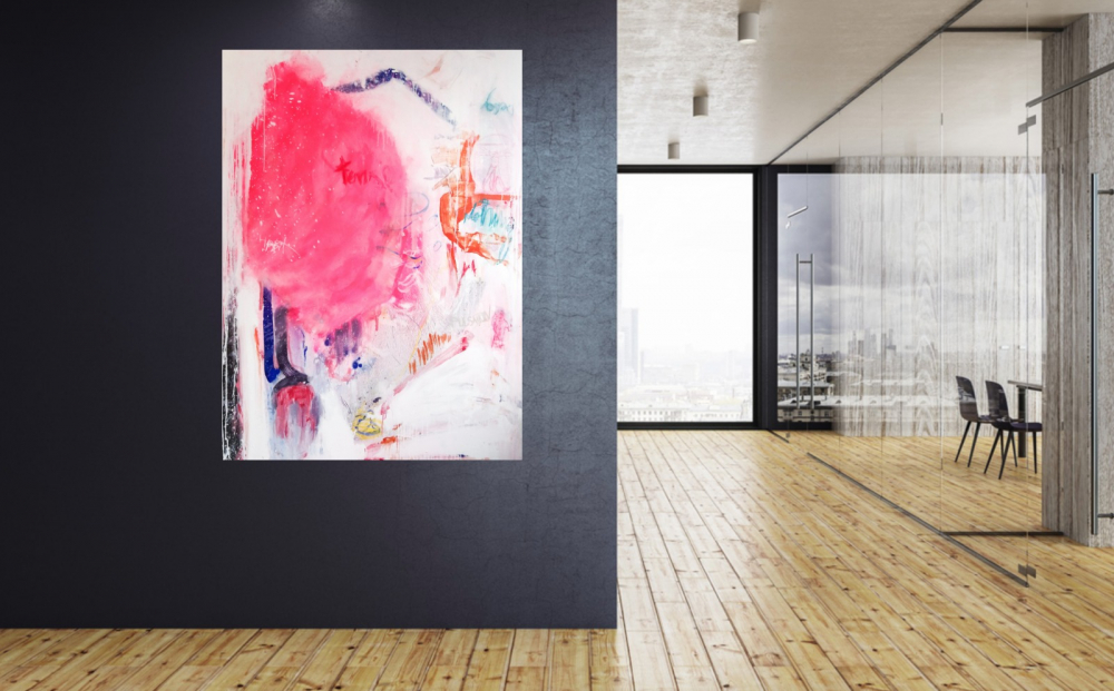abstract art for contemporary interior