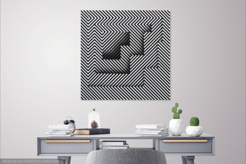 illusion painting for contemporary interior