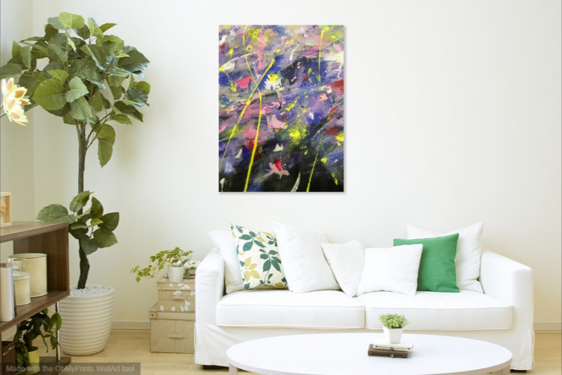 expressionism art painting violet flowers