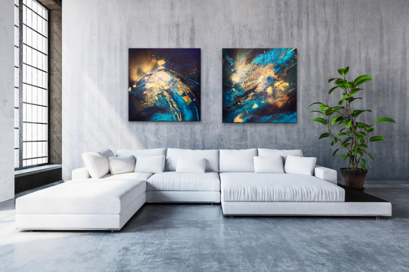 abstract painting, contemporary art, original artwork, online art gallery, office art, interior, gold painting, blue painting, acrylic painting, painting art, art online, art for sale, art sale, contemporary original paintings
