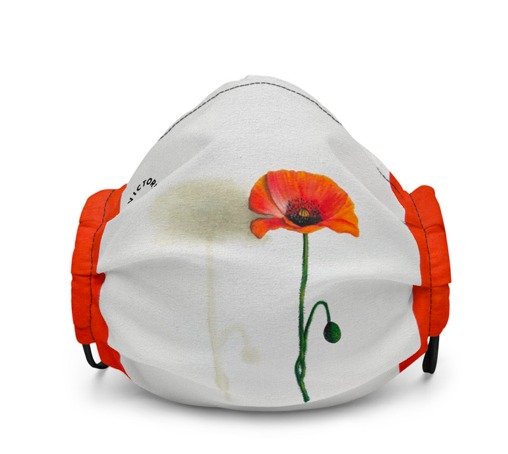 Red Poppy Facemask
