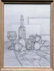 Still life with wine
